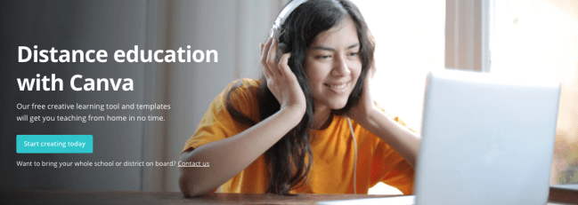 distance education with Canva