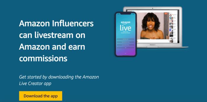 Amazon influencer app