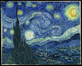 The Starry Night by Vincent Van Gogh, who painted extensively throughout Provence, an inspiration for the travel writing class.