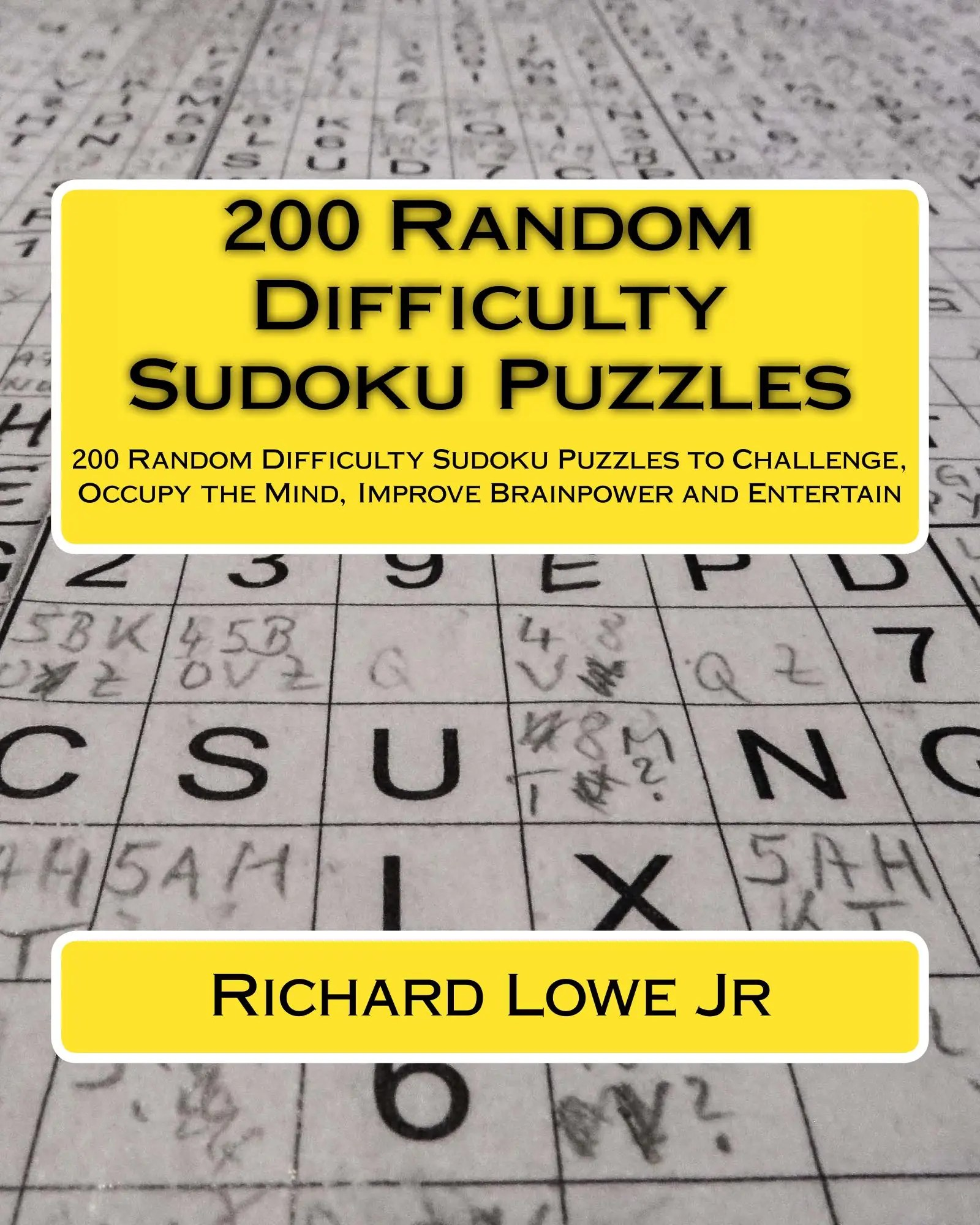 200 Random Difficulty Sudoku Puzzles The Writing King