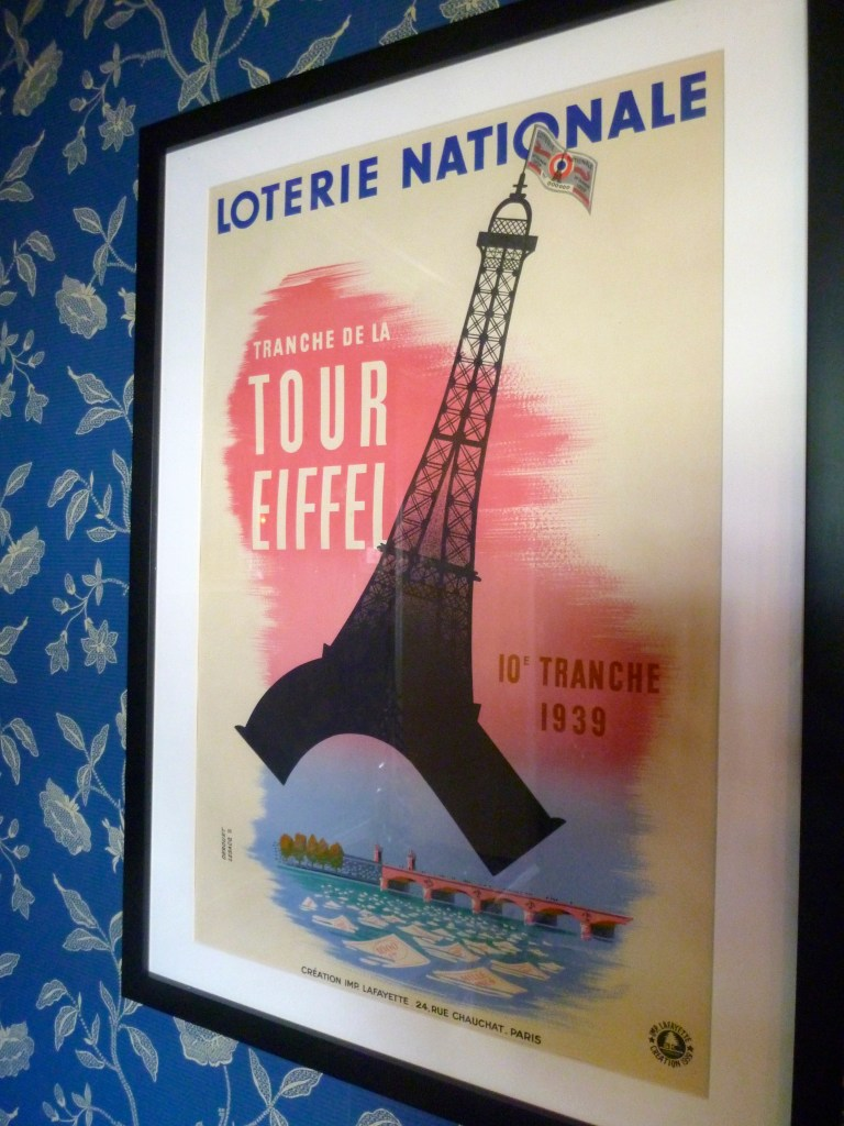 French poster in my dining room