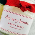 The Wry Home Winter Berry Candle