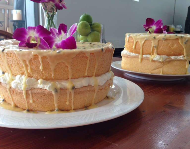 Andrea's Sponge Cake with Passionfruit Icing