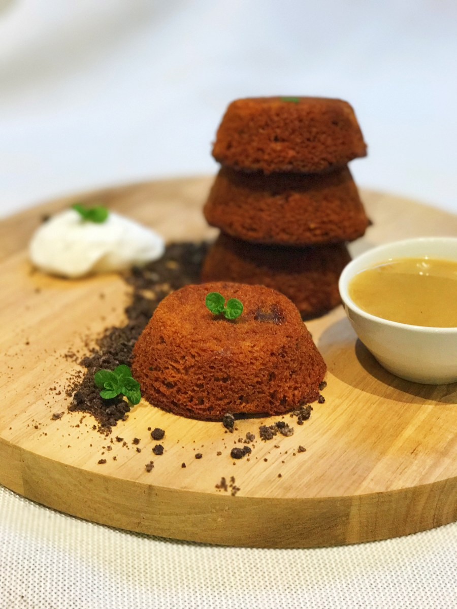 Vegan Sticky Date Pudding (with Butterscotch Sauce)
