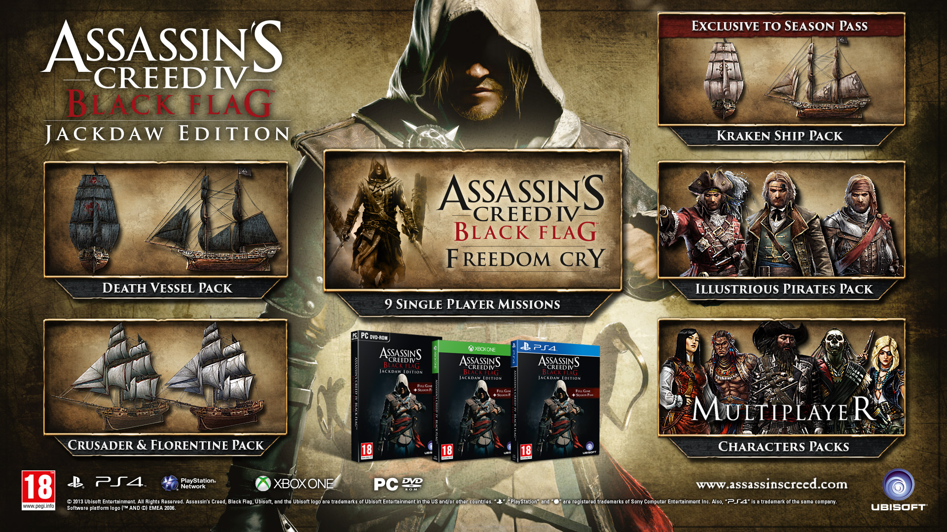 Assassins Creed Iv Black Flag Jackdaw Edition On Xbox One Detailed