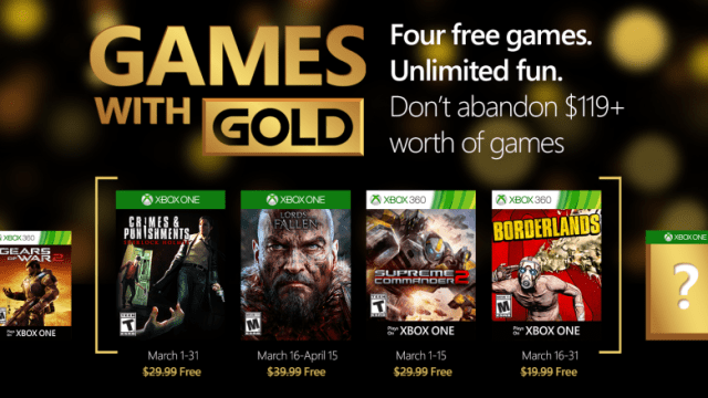 games with gold march 2016