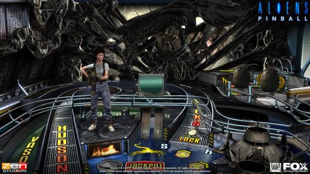 Aliens vs Pinball Launch Screenshot - 2