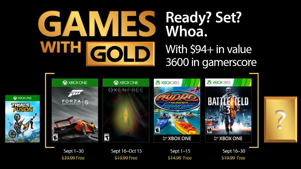 Are The Free Xbox Games With Gold Titles For September 2017
