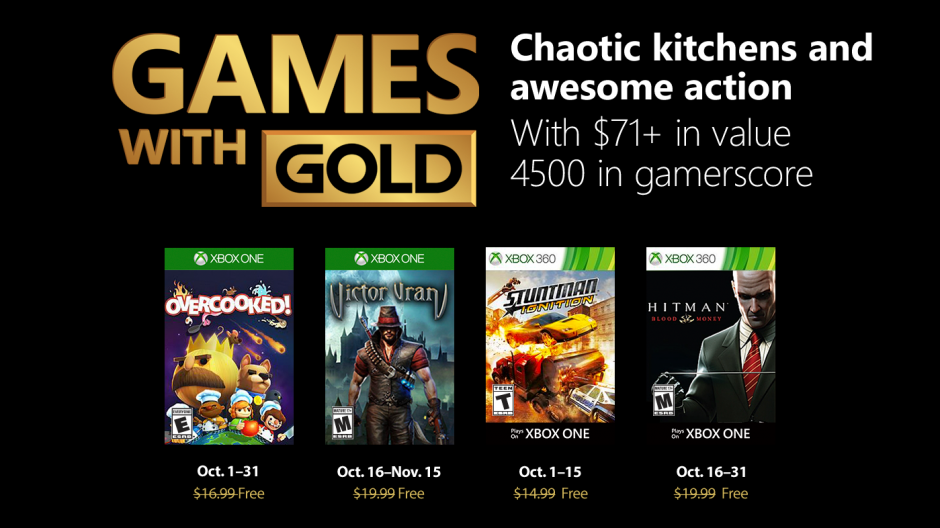 Are The Free Xbox Games With Gold Titles For October 2018