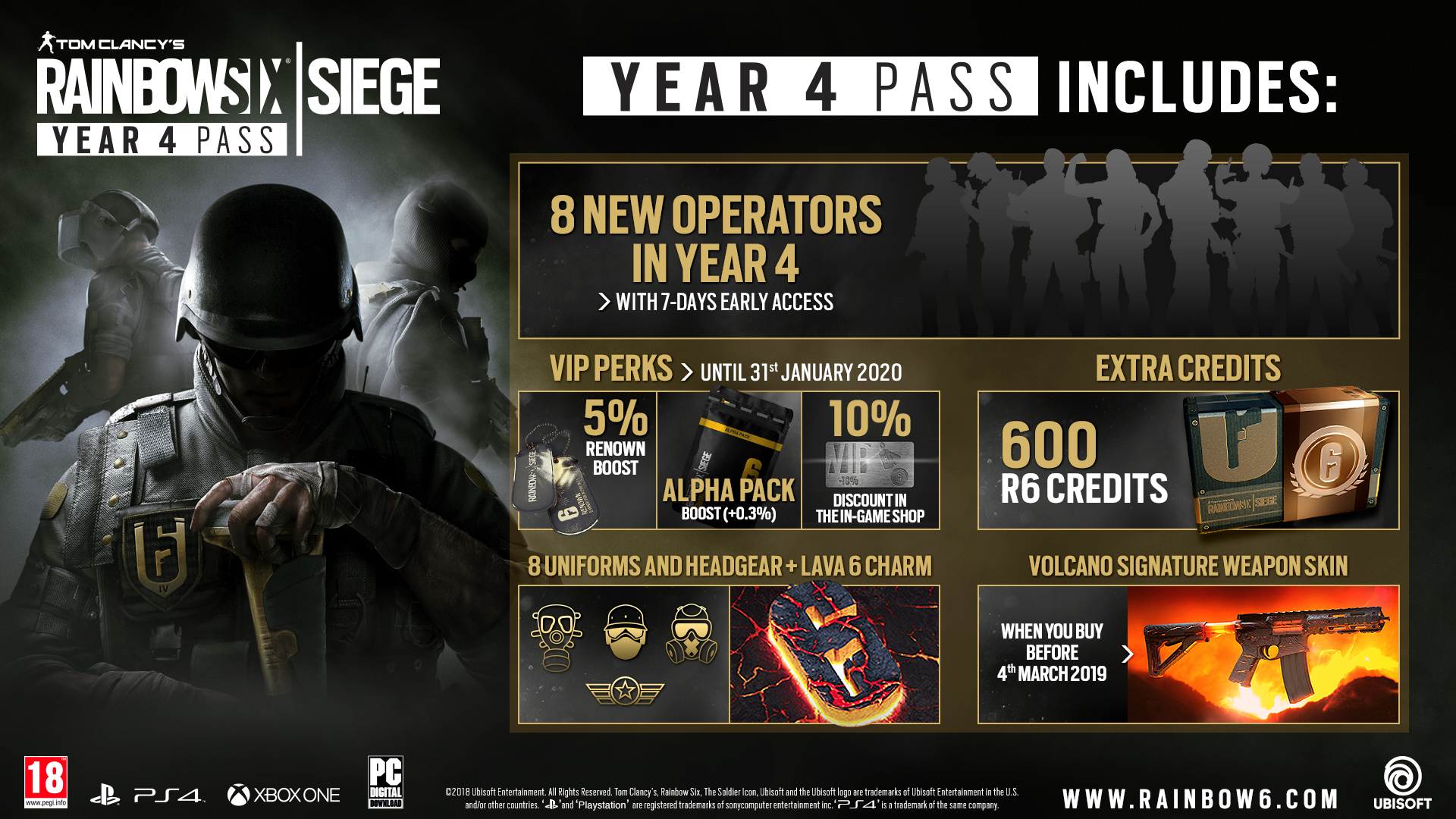 Be A Vip With The Tom Clancy S Rainbow Six Siege Year 4 Pass Now Available On Xbox One Ps4 And Pc Thexboxhub