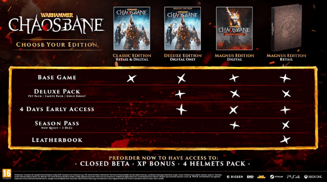 warhammer chaosbane editions