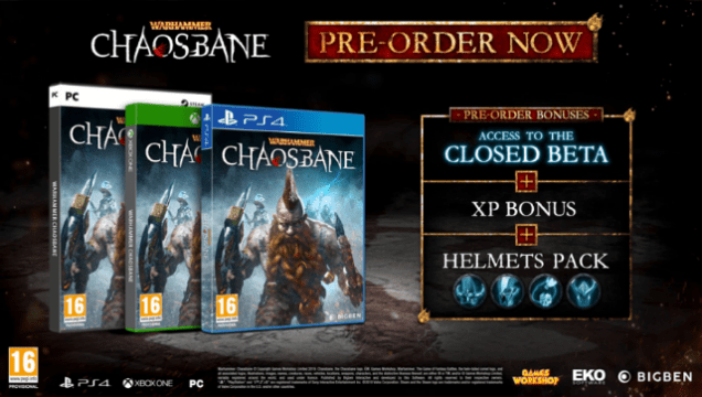 warhammer chaosbane preorder bonus