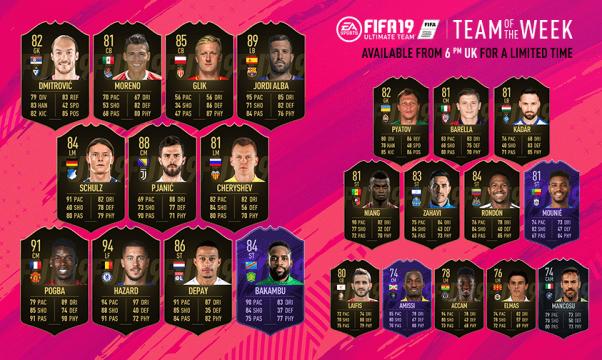 FIFA 19 Ultimate Team Team of the Week #28