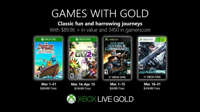 Are the free Xbox Games With Gold titles for March 2019 any good