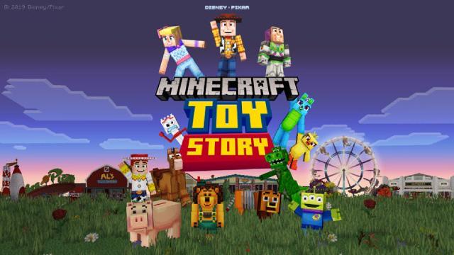 minecraft toy story mash up