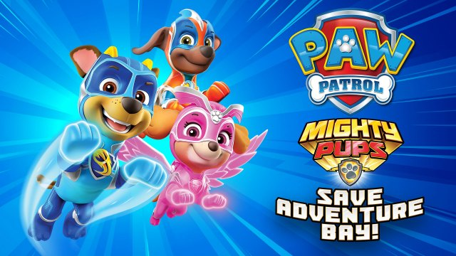 paw patrol mighty pups header
