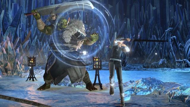 sword art online Alicization Lycoris kirito fighting