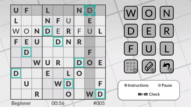 word sudoku xbox