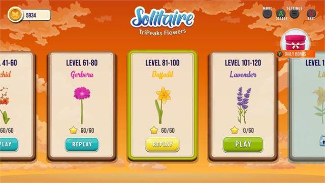 Solitaire TriPeaks Flowers Review