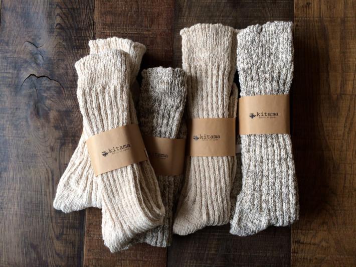 ガラ紡靴下
