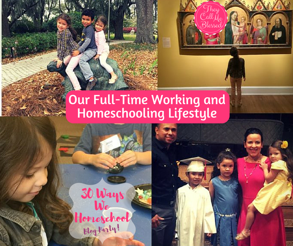 working and homeschooling