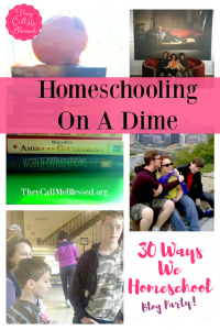 homeschooling on a dime