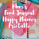 Mom's Food Journal for the Happy Planner + EXTRA BONUS