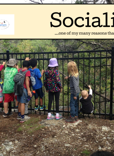 Socializing…one of my many reasons I homeschool!
