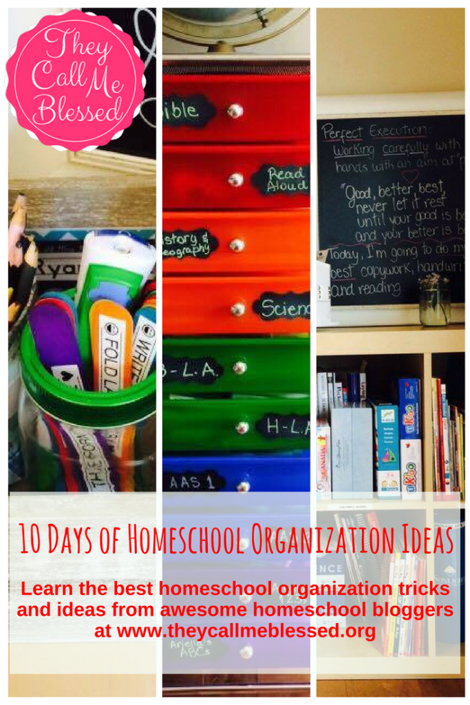 10 Days of Homeschool Organization Ideas: 7 tricks to organize your homeschool in your dinning room without making it look like a classroom