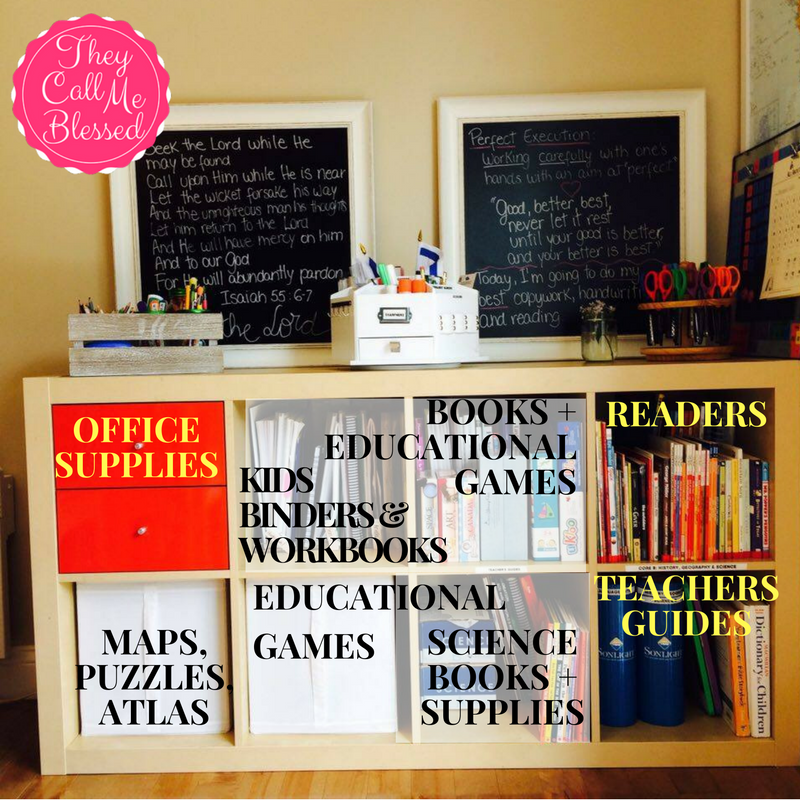 Organize Your Homeschool Space