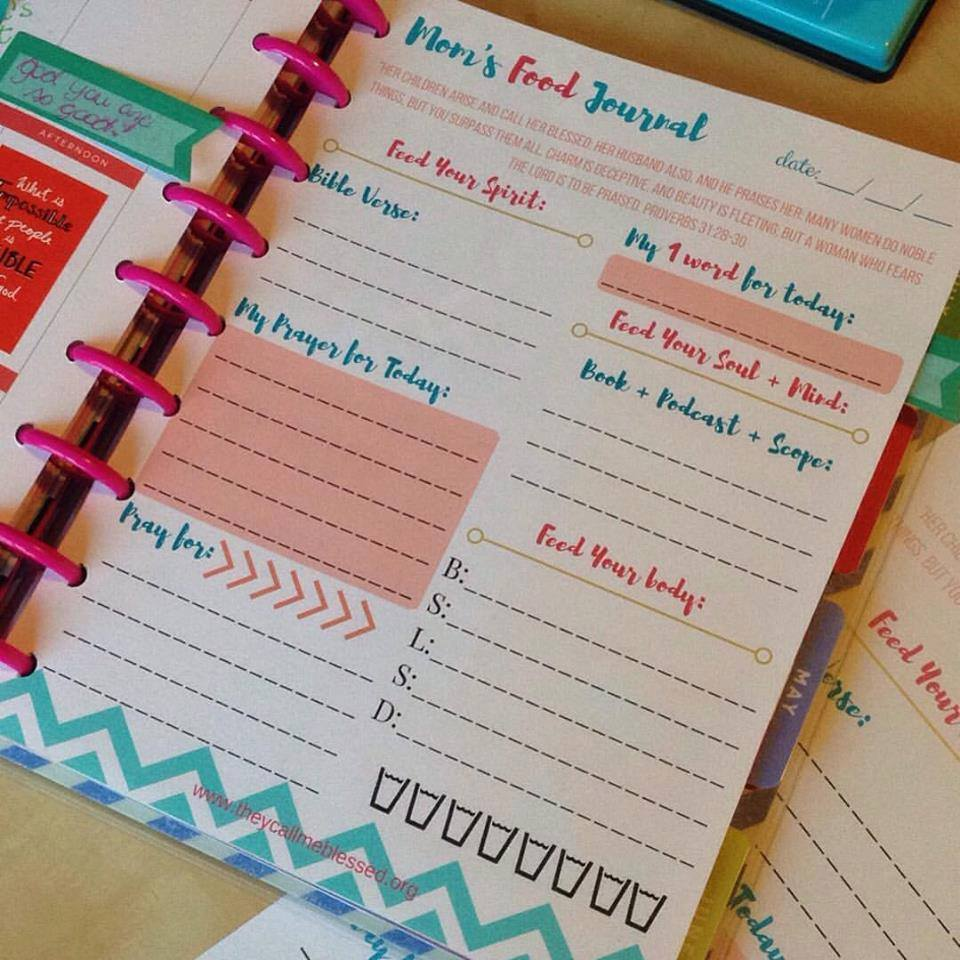 "Did you know we have a beautiful printable Mom's Food Journal at They Call Me Blessed store? I created this printable to help me and other moms to spend more time with God in the midst of our busy life. This is what one mom has to say about this printable: ""Thank you so much! I absolutely love these journal pages! I have been wanting more than just a regular notebook for my daily devotionals and have tried to sit down and make my own but never have time! I came across this somehow and absolutely LOVE LOVE LOVE them! Thank you!"" -Ashlee"