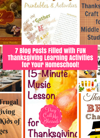 FUN Thanksgiving Learning Activities for Your Homeschool