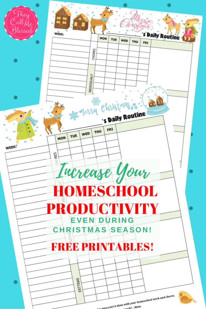 Homeschool Productivity During Christmas