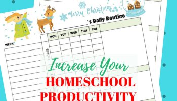 Homeschool Productivity During Christmas