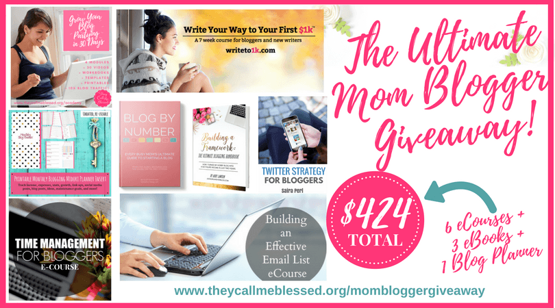 The Ultimate Mom Blogger Giveaway | They Call Me Blessed