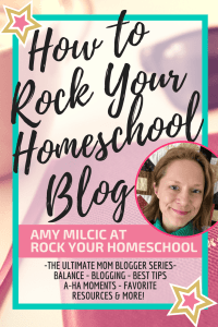 The Ultimate Mom Blogger Amy Milcic at Rock Your Homeschool - How to Rock Your Homeschool Blog - Learn how Milcic is making money blogging from home. | mom blogger| make money blogging | how much a blogger makes | blogging income | mom bloggers make money | The Ultimate Mom Blogger Series | Start A Mom Blog | Suzi Whitford| Blogging | Blogging Tips | Blogging Strategies | Grow Your Blog | Start A Blog | Make Money Blogging