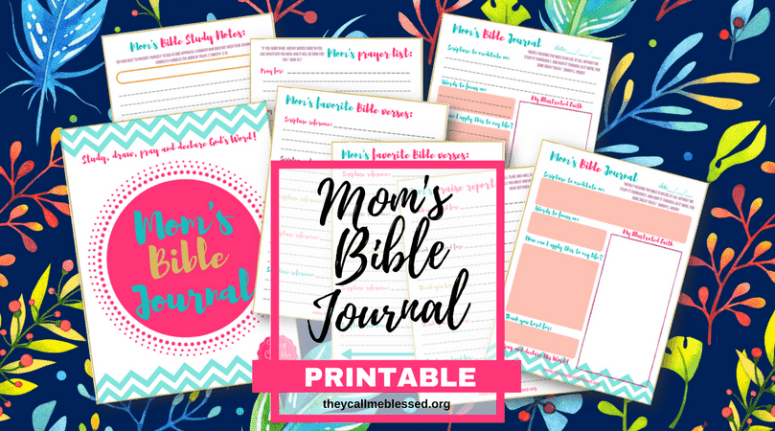 """Did you know we have a beautiful printable Mom's Bible Journal at They Call Me Blessed store? I created this printable to help me and other moms to spend more time with God in the midst of our busy life. This is what one mom has to say about this printable: """"Thank you so much! I absolutely love these journal pages! I have been wanting more than just a regular notebook for my daily devotionals and have tried to sit down and make my own but never have time! I came across this somehow and absolutely LOVE LOVE LOVE them! Thank you!"""" -Ashlee   Bible journal   prayer journal   praise journal   Bible journaling   prayer journaling   free printable journal   free bible journal   printable bible journaling   bible journaling printables"""