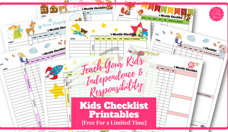 How to Teach Kids Independence and Responsibility (Free Kids Checklist Printables!)