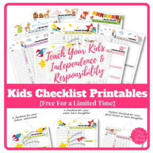 free printable routine checklist templates to help your kids learn independence and responsibility free