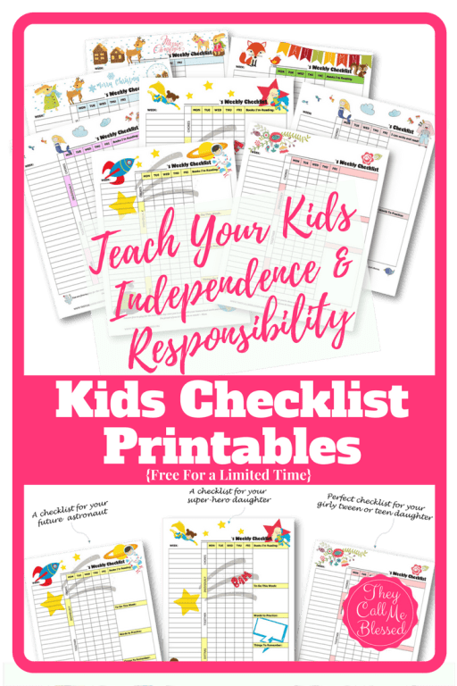 Teach kids independence: FREE Printable Routine Checklist Templates to help your kids learn independence and responsibility. Free Kid's checklist