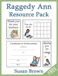 Raggedy Ann Resource Pack Freebie | Homeschool printable | homeschool freebie
