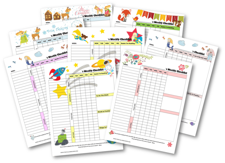 Get back into your homeschooling routine with these FREE Printable Routine Checklist Templates to help your kids learn independence and responsibility. | Free chores & homeschool checklist | Free homeschool checklist | Free chores checklist | Free chores printables | Free homeschool printables | Kids checklist | Kids checklist printables | Kids checklist daily routine | Kids homeschool checklist | Chores checklist for kids | Chores checklist printables | Kids weekly schedule | Kids weekly planner