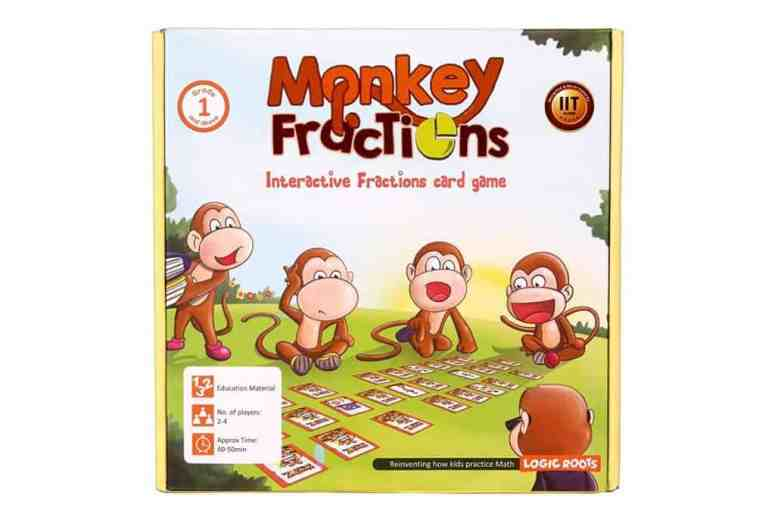 Homeschool Math: Monkey Fractions game.