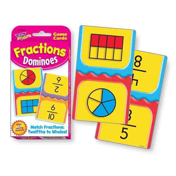 Homeschool Math: Fractions Dominoes.