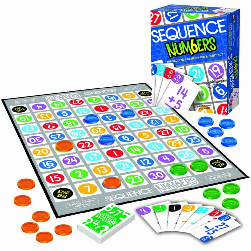 Homeschool Math: Sequence Numbers math game.