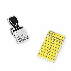 Library Card & Stamp Pins - Set of 2