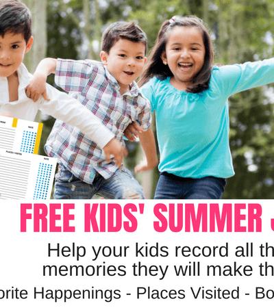 FREE Summer Journal for Kids
