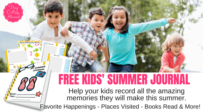Free Kids Summer Journal
