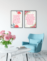Gratitude & Thanksgiving Scripture Wall Arts Set 1 (6)