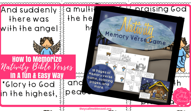 How to Memorize Nativity Bible Verses In A fun, Easy Way